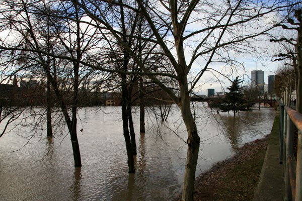 Hochwasser in Frankfurt