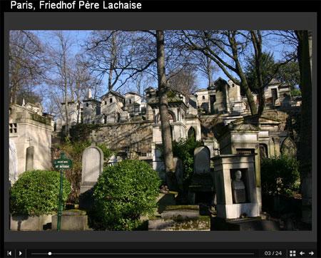 Diashow Friedhof Pere Lachaise