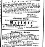 Anzeige 1838