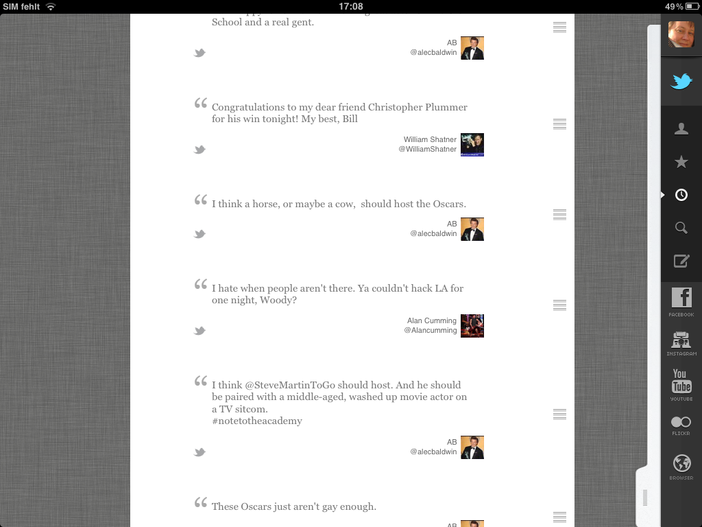 Screenshot: Storify the Oscar-Tweets