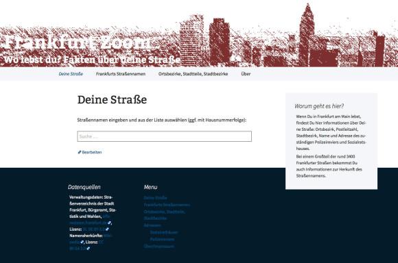 Frankfurt Zoom: Fakten über deine Straße