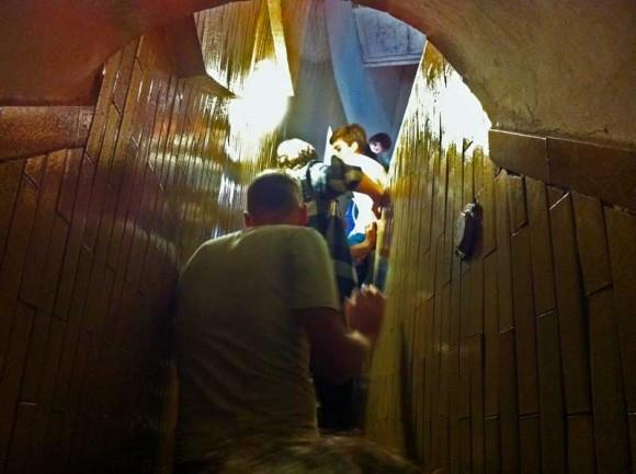 Abenteuerlich: Für den Aufstieg in die Kuppel sollte man keine Probleme mit engen Räumen haben.
