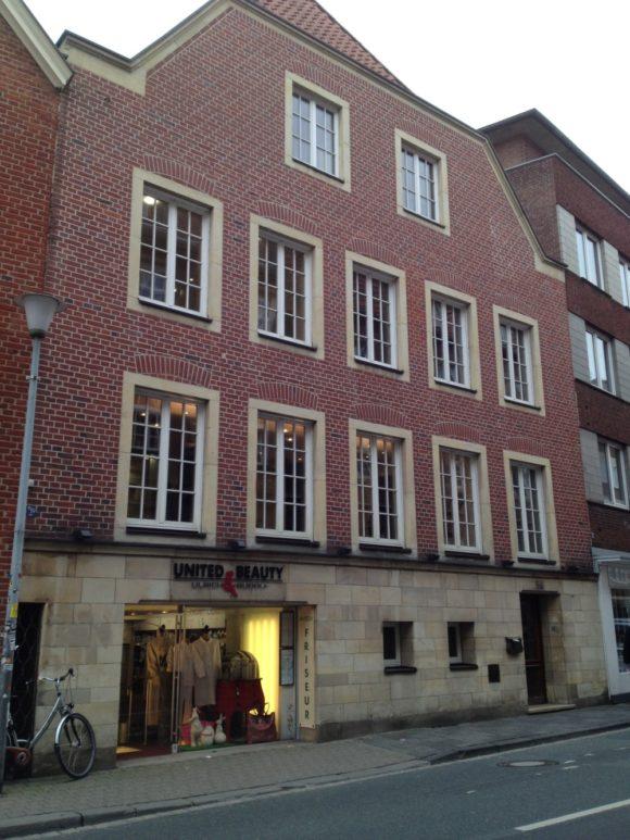 Hier wohnte Levin Schücking - nicht nur zu Lebzeiten Annettes, sondern auch in späteren Jahren, wenn er sich in Münster und nicht auf seinem Gut in Sassenberg aufhielt. Bild: Monika Gemmer
