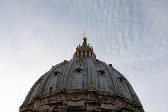 Die Kuppel des Petersdoms.