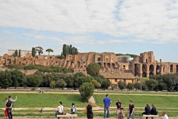 Circus Maxismus, dahinter das Forum Romanum