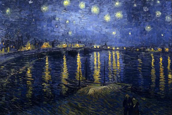 Van Gogh: Sternennacht über der Rhone.