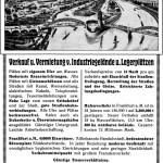 Werbeanzeige der Stadt Frankfurt am Main für den Frankfurter Osthafen, 1914