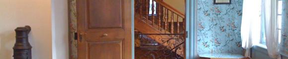 Blick aus Cornelia Goethes Jugendzimmer auf das Treppenhaus