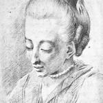 Cornelia Schlosser geb. Goethe. Zeichnung von Johann Ludwig Ernst Morgenstern