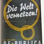 Mein Lieblingsplakat: Die re:publica, wie sie 1948 ausgesehen hätte