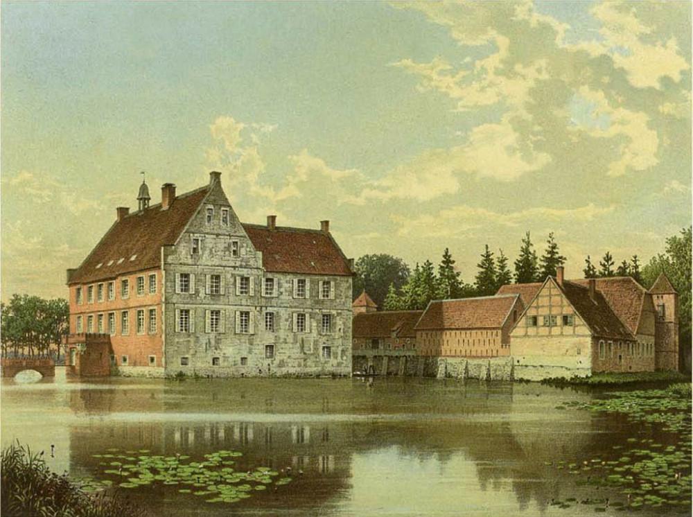 Before-Burg Hülshoff damals und heute