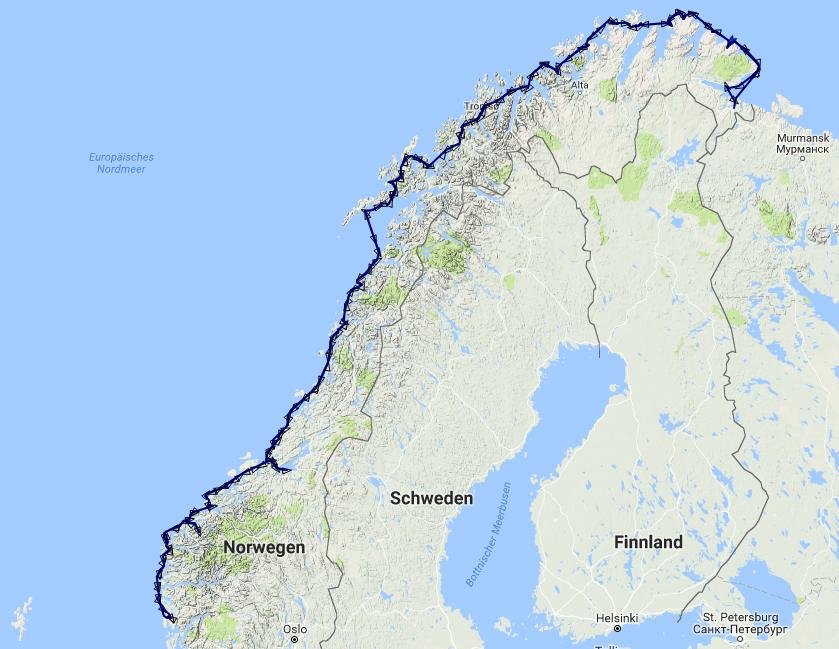 Karte Norwegen Hurtigruten.An Norwegens Küste Entlang Unterwegs Mit Hurtigruten Von Bergen