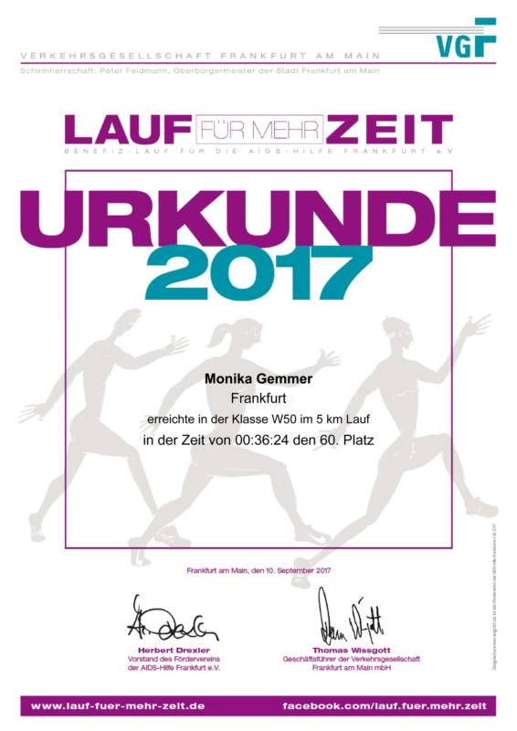 Lauf für mehr Zeit 2017