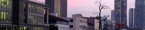 Blick aus unserem Konferenzraum auf die Mainzer Landstraße