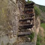 Ganz schön steil: Treppe in den Weinhang bei Winningen.