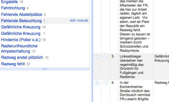 """OpenRefine: Die Funktion """"Text Facet"""" hilft, unterschiedlichen Schreibweisen auf die Spur zu kommen. Hier entdeckt das Tool ein überflüssiges Leerzeichen."""