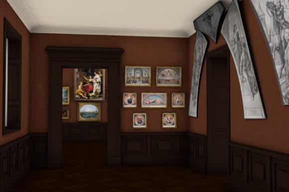 Nachstiche der Stanzen Raffaels, wie sie 1878 präsentiert wurden- Bild: Städel Museum