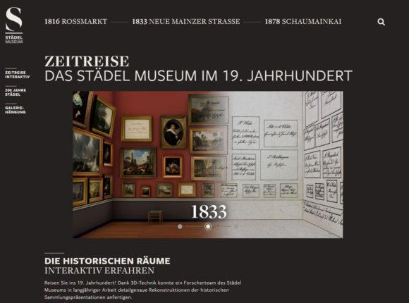 Zeitreise im Web: Anhand von Hängeplänen konnte die ursprüngliche Anordnung der Gemälde rekonstruiert werden. Bild: Städel Museum