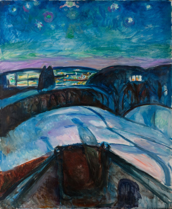 Sternennacht (1922), Munch Museum Oslo, CC BY-NC