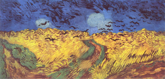Van Gogh: Weizenfeld mit Raben (1890)