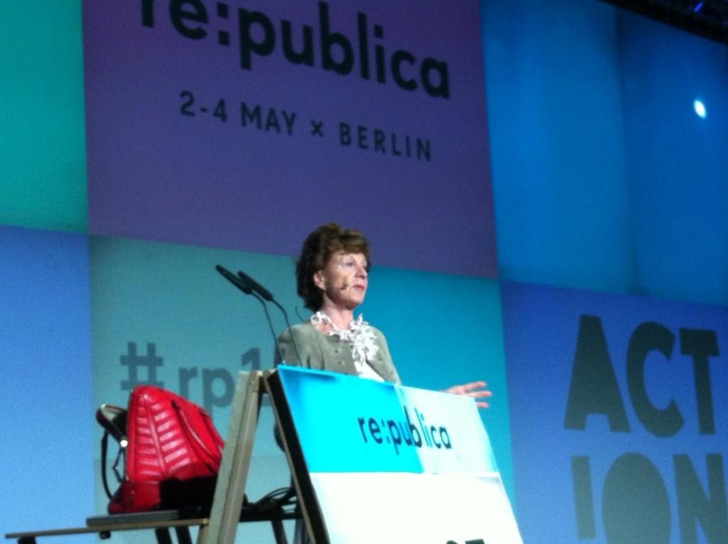 Neelie Kroes auf der re:publica